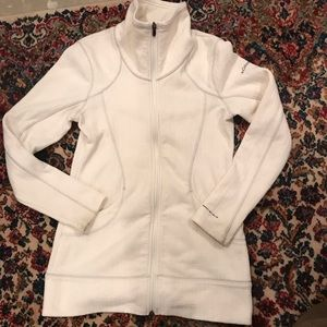 Columbia White zip up sweater - size S